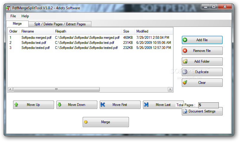 PdfMergeSplitTool 1.0.2 : ����� ��� ������ ������ ����� PDF
