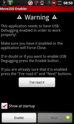 [SOFT] MOVE2SD ENABLER : Déplacer les applis sur la SD [Gratuit] Move2sd-enabler_2.2010918103146