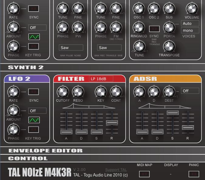 TAL-NoiseMaker 2: GUI Problem in Garageband - KVR Audio